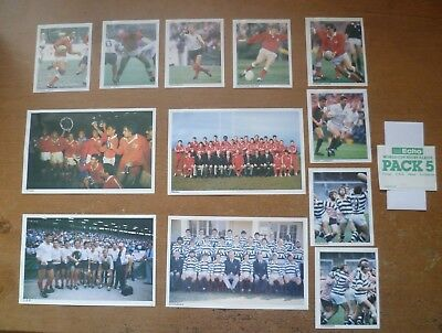 1987 - World Cup Rugby Commemorative Team / Player Pictures (x12).