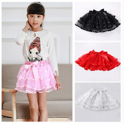 Kids Baby Girls Skirt Dress Cute Minnie Mickey Mouse Pageant White Skirt