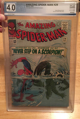 AMAZING SPIDER-MAN #29 PGX VERY GOOD 4.0 2ND APP OF THE SCORPION!~NoRes!