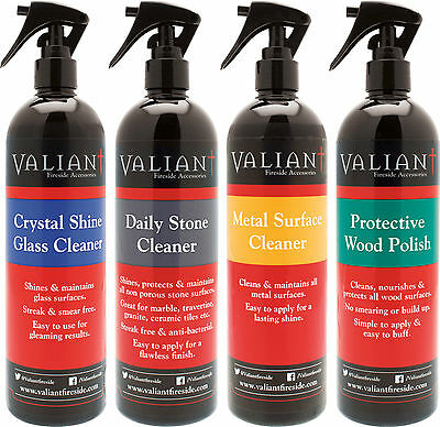 Valiant Multi Surface Essential Cleaning Kit with 4 Specialist Sprays - FIR620
