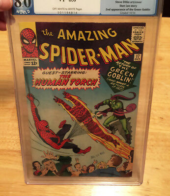 AMAZING SPIDER-MAN #17 PGX 8.0 2ND GREEN GOBLIN SWEET COPY! (not CGC) NoReserve!