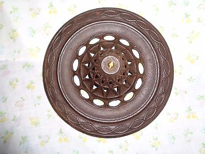 Antique Cast Iron Stove Heater Top Steampunk Honeycomb Cast Iron Finial