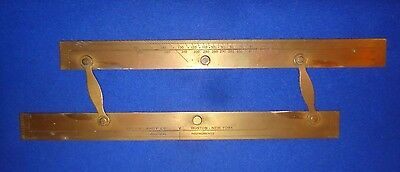 Antique Kelvin-White Co.nautical Instrument #158,navigation Ruler,brass Parallel
