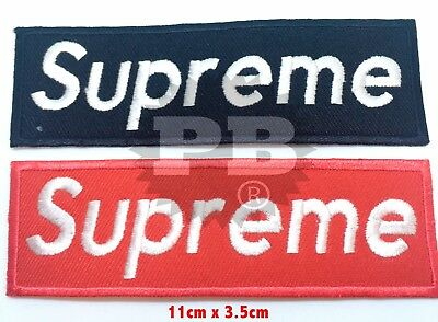 Supreme Skatboarding Hip hop punk rock Iron on Sew on Embroidered Patch