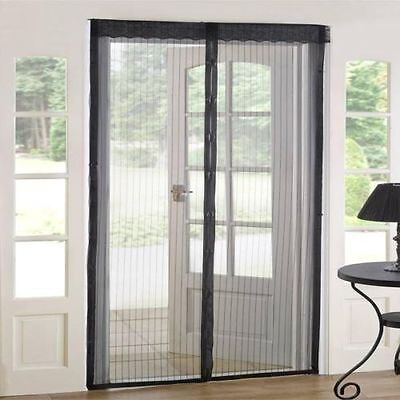 Hands Free  Mesh Screen Net Door with magnets Anti Mosquito Bug Curtain USA