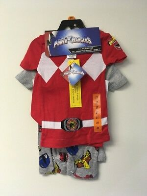 Power Rangers Boys 4 Piece Sleepwear Set, 2T. 2 Shirts, Shorts and Long Pants.