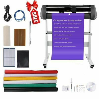 "34"" Vinyl Cutter Machine Vinly Sign Cutting Plotter Starter Bundle Kit Software"