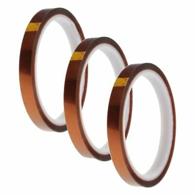 3x 10mm 100ft BGA High Temperature Heat Resistant Polyimide Tan Tape F4R3 M8T3