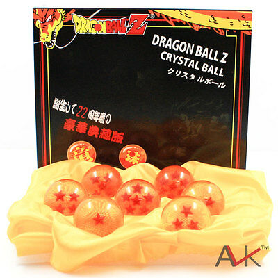 7pcs JP Anime DragonBall Z Stars Crystal Ball Collection Set with Gift Box Hot