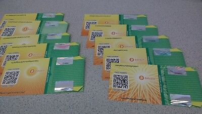 Paper bitcoin wallet with .001 BTC - Secure high quality material