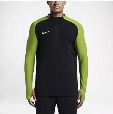 1f6d6df7 Nike Strike Aeroswift 1/4 Zip Soccer Drill Top Black / Volt 807034 011 Mens
