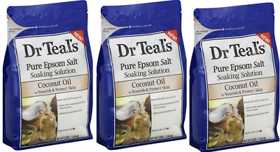 Dr Teal's® Pure Epsom Salt Soaking Solution - 3lbs (3 Pack)