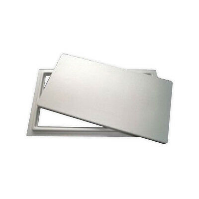 """Crawl Space Access Door without Louvers - White (12""""x32"""")"""