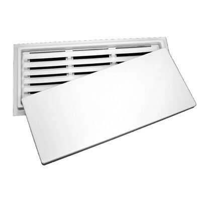 """Crawl Space Access Door with Louvers - White (12""""x32"""")"""