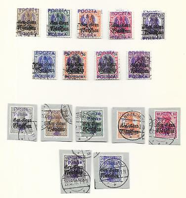 Poland/KALISZ stamps Collection of 16 LOCAL stamps CAT VALUE $450