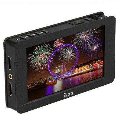 """Ikan 5"""" 4K Support HDMI On-Camera Field Monitor with Touch Screen, Black (DH5e)"""