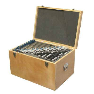 "0-12"" X 0.0001"" Outside Micrometer Set Metal Frame Carbide Tip Wooden Case"