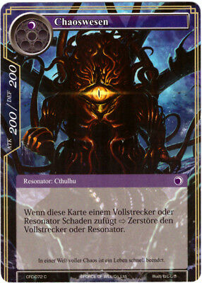 Force of Will TCG Karte #CFC-072 Chaoswesen