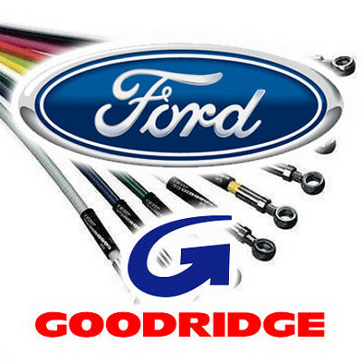 Goodridge Zinc Plated Brake Hoses for Ford Granada 1 2 1975-1977