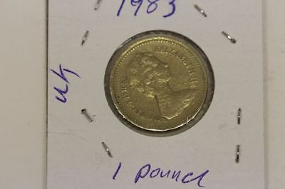 Lot of 4 UK One Pound Coins (Various Years)