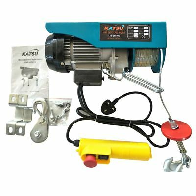 Scaffold Winch Electric Workshop Garage Gantry Hoist Lifting 250-1000KG
