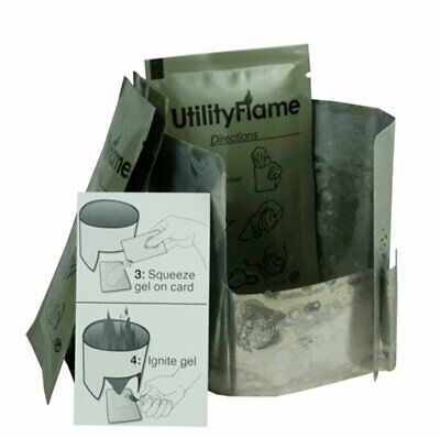 UtilityFlame Fire Packets 37ml with Stove