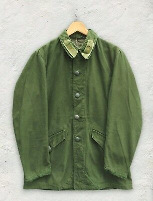 Green Vintage Swedish M59 60s Olive Chore Worker Work Mod Military Jacket