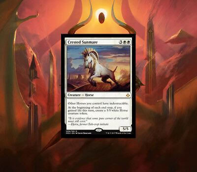 Magic the Gathering Crested Sunmare & 1 x Horse Token Hour of Devastation