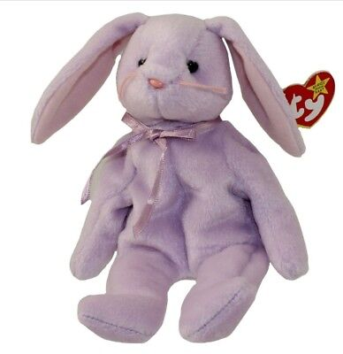 TY Beanie Baby - FLOPPITY the Purple Bunny (1996) RETIRED
