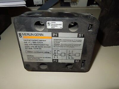 Merlin Gerin # 685 525A 2000A Continuous Rating Neutral Current Sensor Used