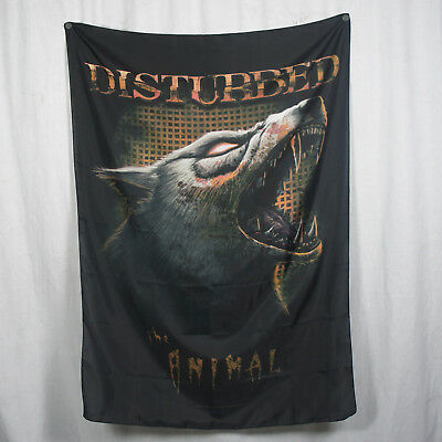 Authentic DISTURBED Band The animal Wolf Silk-Like Fabric Poster Flag NEW