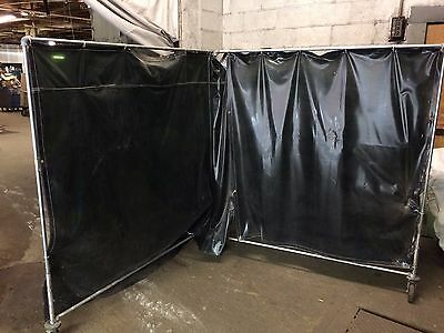 2 Sellstrom Supervisor Welding Curtain approx 62 x 62 ea, curtain only if shiped