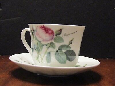 Vintage Cup and Saucer Redoute Roses Roy Kirkham Fine Bone China England