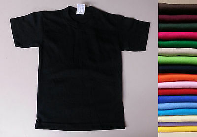 SALE Kids Plain T Shirt Juvy Toddler Boy Girl XS-3XL Children Age 2-15 - Singles