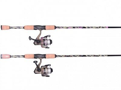 "1 x Shakespeare PINK CAMO 6'0"" AMPHIBIAN Fishing Spin Rod & Reel Combo - 2 Pc"