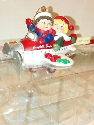 Campbells soup kids ornament airplane Flying By 1998