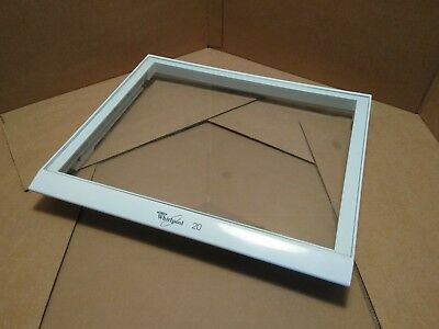 Used Whirlpool Refrigerator Crisper Cover With Glass Part# W10508993