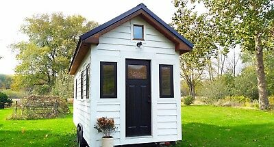 Modern Farmhouse Complete Tiny House on Wheels - 160 sq ft with Shiplap