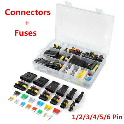 1 2 3 4 5 6 Pin Way Car Boat Waterproof Electrical Connectors & Fuses With Box