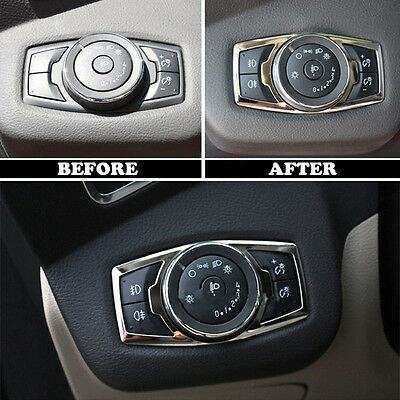 FIT 12- FORD FOCUS CHROME FOG HEAD LIGHT LAMP SWITCH BUTTON COVER TRIM BEZEL New