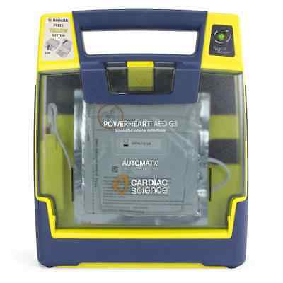 Cardiac Science G3 Automatic AED Defibrillator w/ Battery + Pads 3 Year Warranty