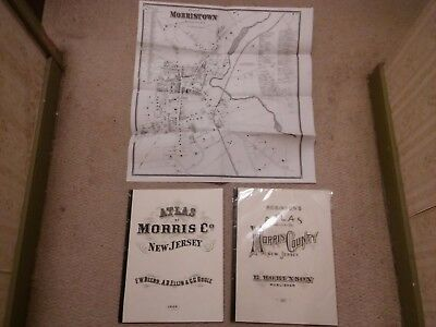 1868 / 1887 Morris County New Jersey Large Map Book Reproductions   - 1 SEALED