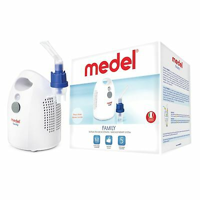 Medel FAMILY Nebuliser - Asthma Machine - 5 Years Warranty - Italian Design