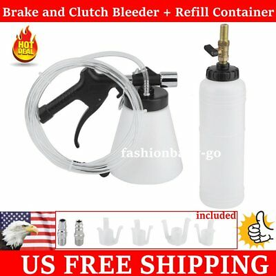Car Brake Bleeder Bleeding Fluid Change Kit Air Pneumatic Garage Vacuum Tool AW5