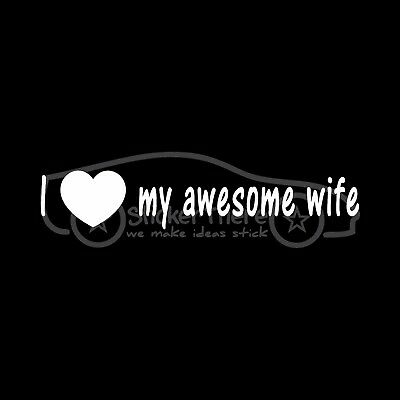 I Love My Helicopter Pilot Sticker Husband Vinyl Decal Fly Chopper