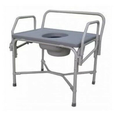 NEW Bariatric Steel Commode with Drop Arm Home Health Care Equipment