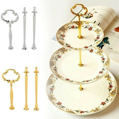 2/3 Tier Cake Cupcake Plate Stand Handle Hardware Fitting Holder Crown Wedding