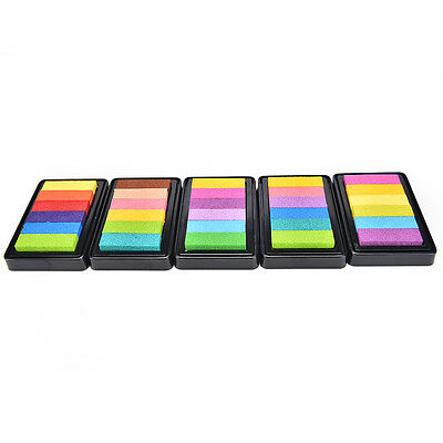 Nice Gradient Oil Based Ink pad Signet For Paper Wood Craft Rubber Stamp 5 Color