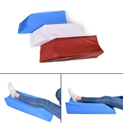 New Elevating Knee Leg Rest Support Sponge Wedge Bed Pillow Washable Cover O