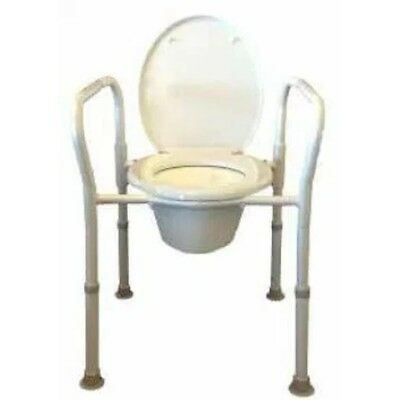 NEW Foldable Over Toilet Frame or Commode Home Health Care Equipment